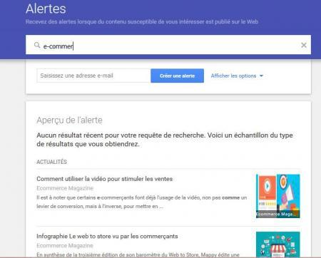 Capture Google Alerts